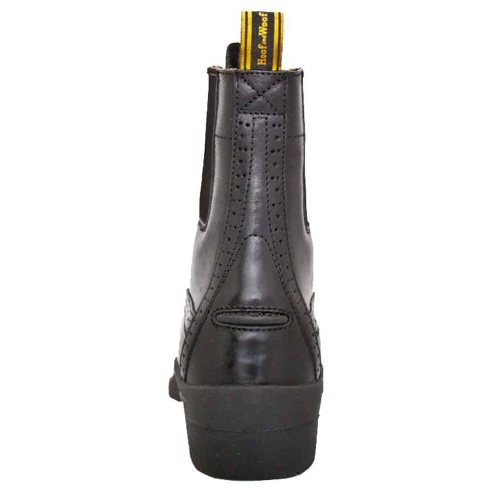 HW90300-BLK - Paddock Zip Boot - Back - Left Foot (Square) 3