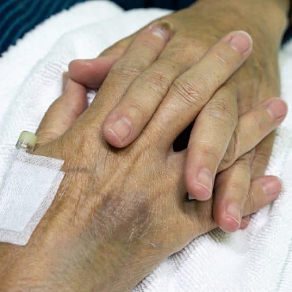 elderly female patient hands
